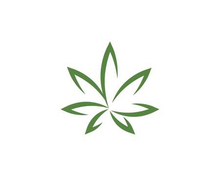 Canabis leaf vector illustration icon design