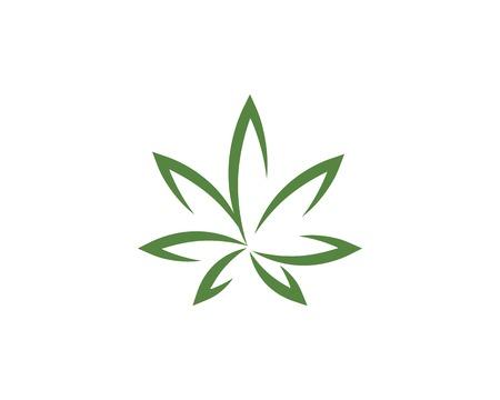 Conception d'icône d'illustration vectorielle feuille de cannabis
