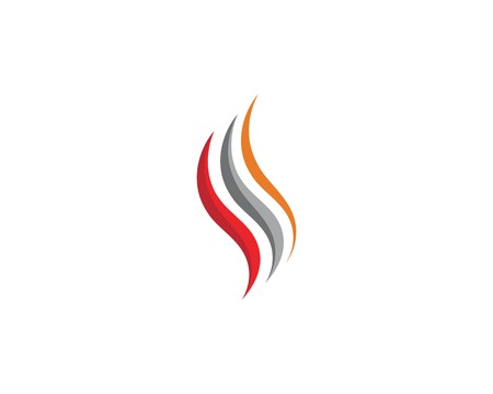 flame icon fire vector design template