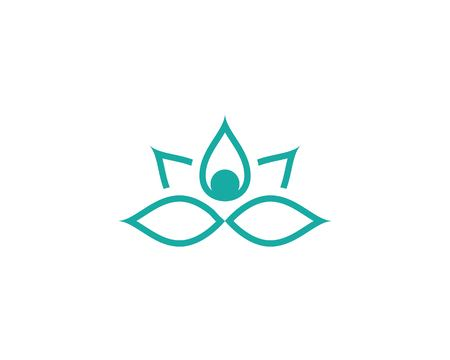 beauty lotus flower vector icon design template Illustration