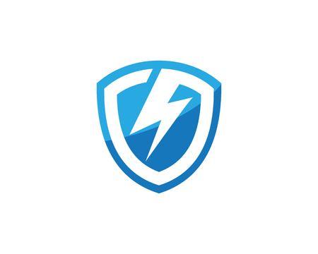 shield power lightning vector illustration design
