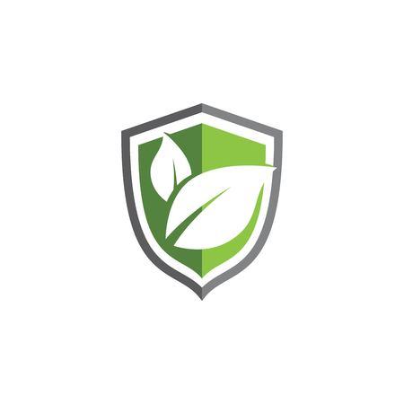 Eco shield vector illustration design template