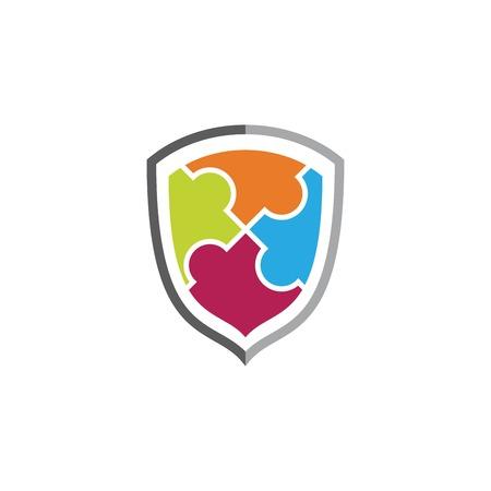 Community shield vector illustration design