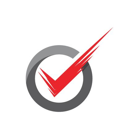 check mark icon vector illustration design template Stock Illustratie