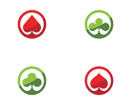 Casino card icon template vector illustration design
