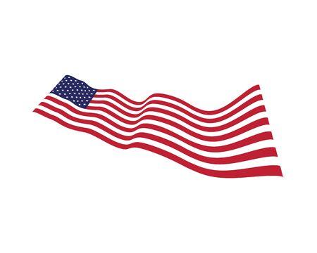 Bandera americana plantilla de diseño de ilustración de icono de vector Ilustración de vector