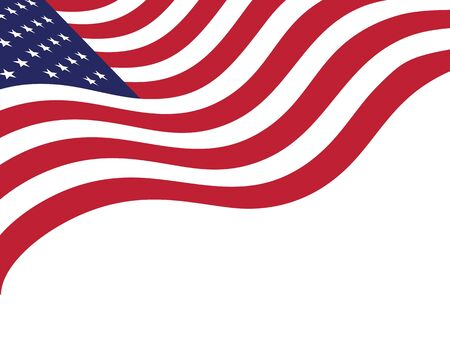 Flaga amerykańska wektor ikona ilustracja szablon projektu