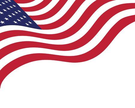 Modello di progettazione dell'illustrazione dell'icona di vettore americano della bandiera