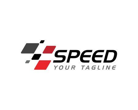 Icono de bandera de carrera, vector de ilustración de diseño simple