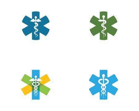 medizinische Schlange Symbol Vektor Illustration Design