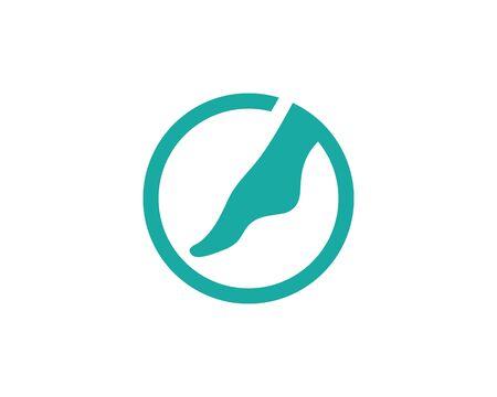 Diseño de ilustración de icono de vector de plantilla de logotipo de pie