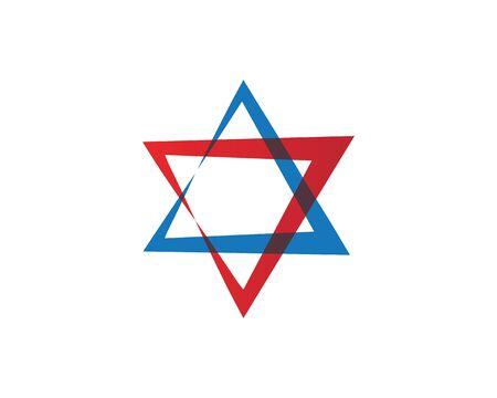 Conception d'illustration d'icône de vecteur de modèle de l'étoile David Vecteurs