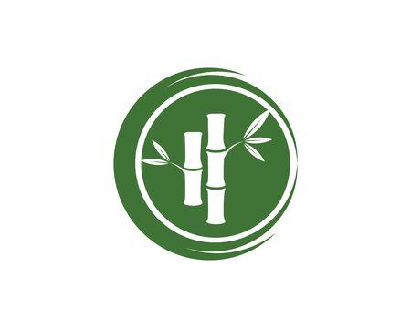 Bamboo vector icon illustration design template Illustration