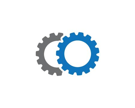 gear icon logo vector icon illustration Vettoriali