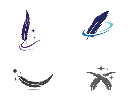 Feather pen icon template Vector illustration