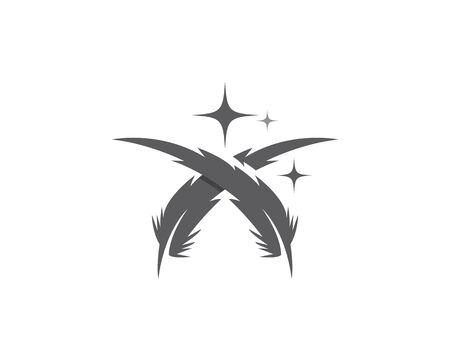 Feather pen icon template Vector illustration Standard-Bild - 129040992