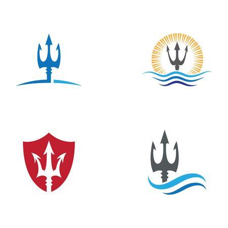 Trident Logo Template vector icon illustration design