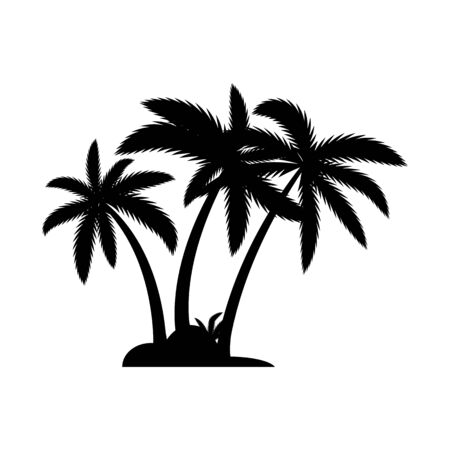 Palm tree summer logo template vector illustration