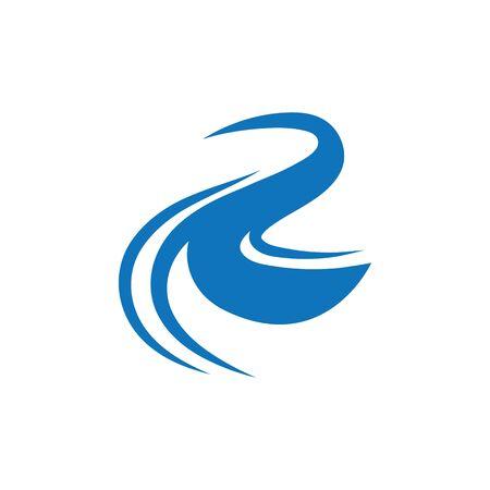 Plantilla de diseño de ilustración de vector de icono de río