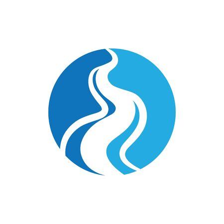 river icon vector illustration design template Ilustración de vector