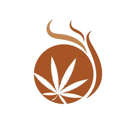 canabis marijuana sign symbol illustration design template