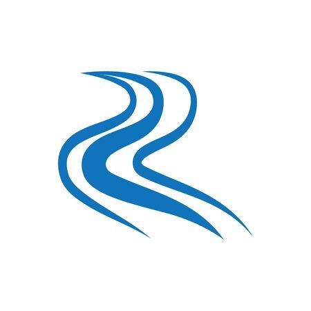 Fluss Symbol Vektor Illustration Designvorlage