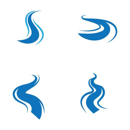river icon vector illustration design template