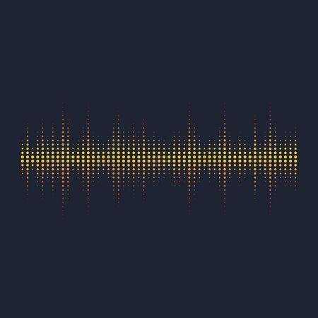 Modèle de conception d'illustration vectorielle d'ondes sonores