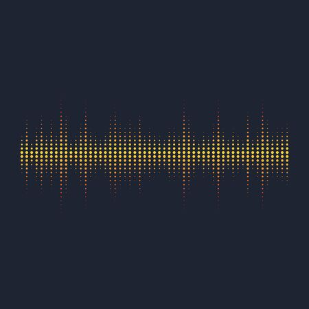 Schallwellenvektorillustrations-Designschablone