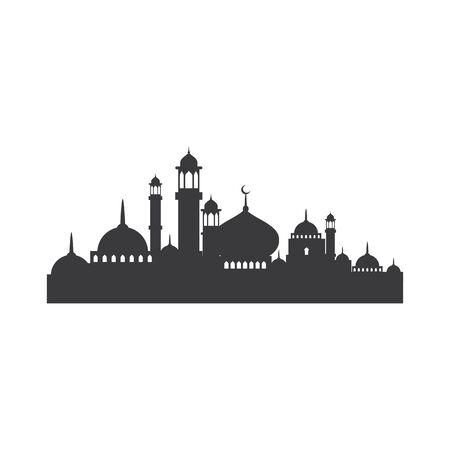 Moslem icon vector Illustration design template