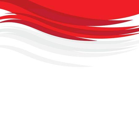 indonesia flag vector illustration design template Illustration