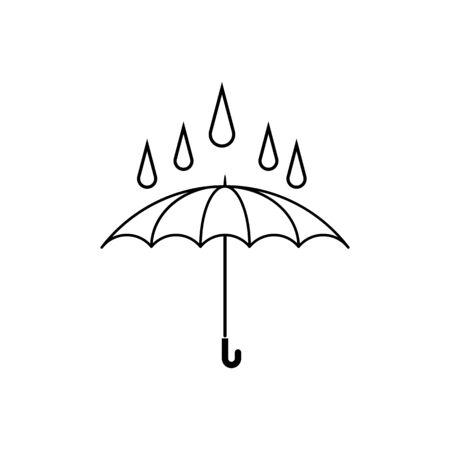 Umbrella icon vector design template