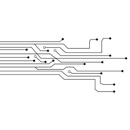 Circuit vector illustration design template