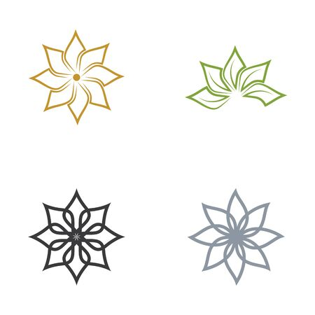Beauty flower vector icon design template