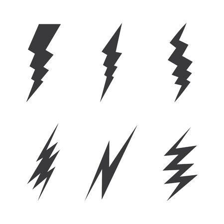 Bolt icon Vector Illustration design Logo template Ilustração