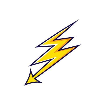 Bolt icon Vector Illustration design Logo template Logos