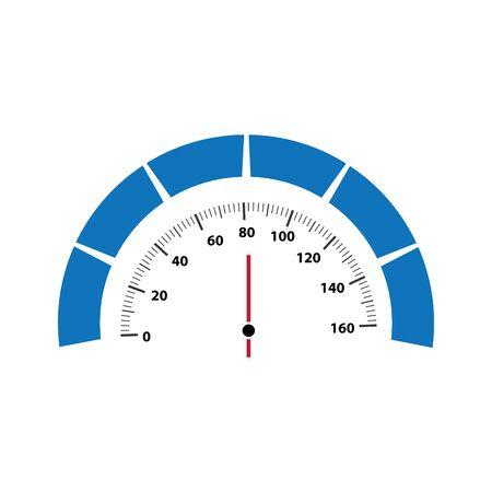 Speedometer vector illustration icon design