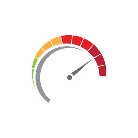 Speedometer vector illustration icon design