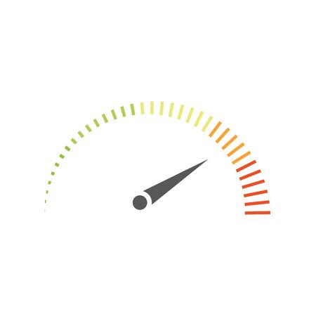 Tachometer-Vektor-Illustration-Icon-Design Vektorgrafik
