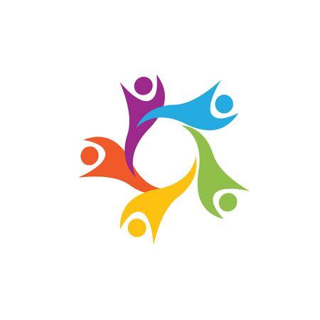 Modello di progettazione di icone di comunità, rete e social