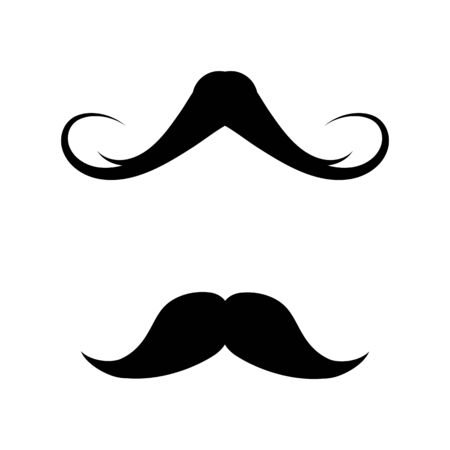 Modèle de conception d'illustration d'icône de moustache