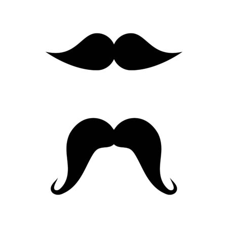 Moustache icon illustration design template