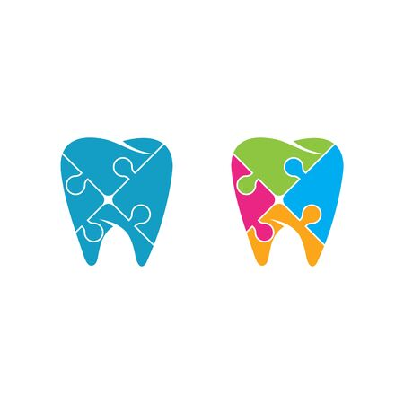 Dental logo Template vector illustration icon design Zdjęcie Seryjne - 129132176