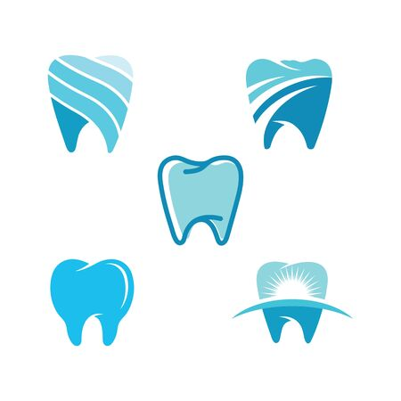 Dental logo Template vector illustration icon design Zdjęcie Seryjne - 129132178