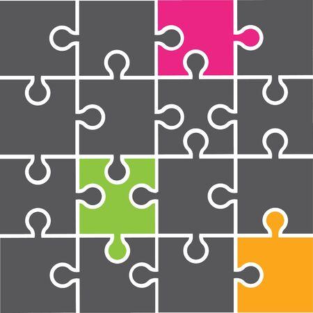 Plantilla de diseño de ilustración vectorial de rompecabezas