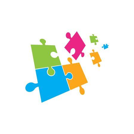 Puzzle Vector Illustration design template 向量圖像