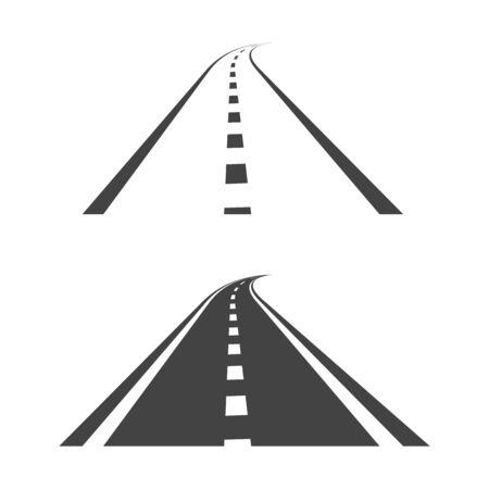 Way vector illustration design template