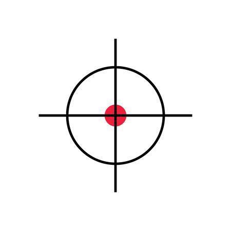 Target Vector icon illustration design template Stock Illustratie