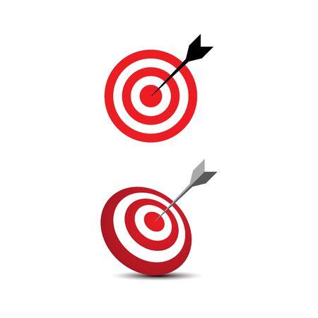 Target Vector icon illustration design template Illustration