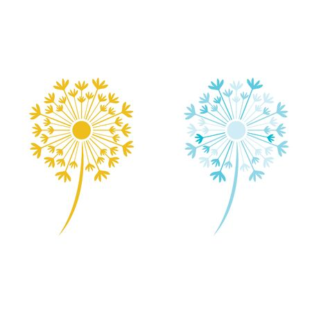 Dandelion vector icon design template